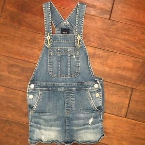 Gap Girls Denim Overall Dress Size Small